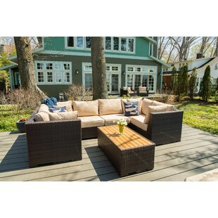 Darden 7 Piece Sectional Seating Group with Cushions by Rosecliff Heights
