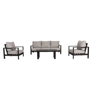 Foundry Select Bakerstown 4 Piece Sofa Set with Cushions