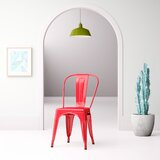 Chelsea Metal Slat Back Stacking Side Chair by Hashtag Home