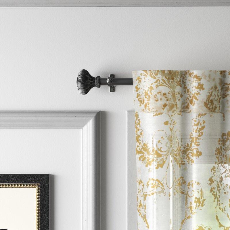 Kelly Clarkson Home Madge Bay Window Single Curtain Rod Hardware Set Wayfair Ca