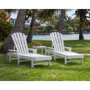 POLYWOOD® South Beach Chaise Lounge 3-Piece Set