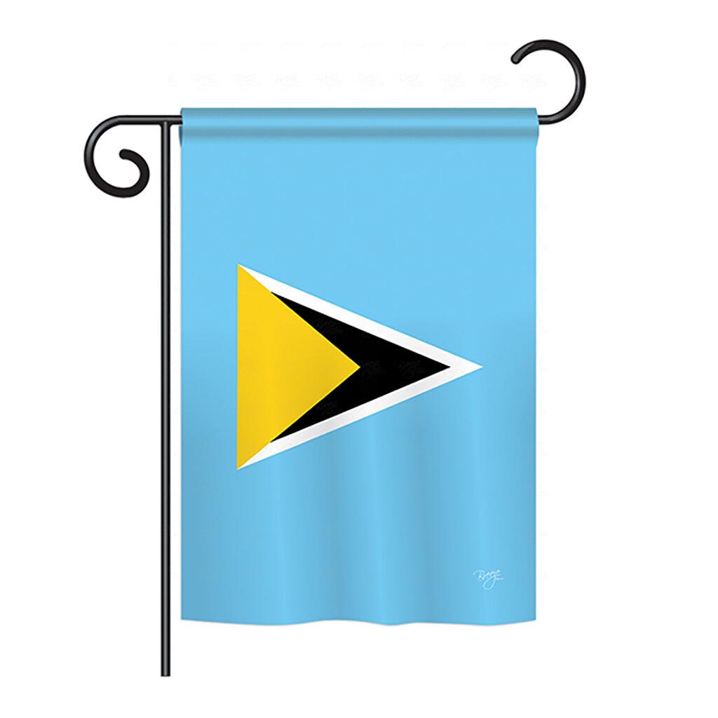 Breeze Decor Saint Lucia 2 Sided Polyester House Flag Wayfair