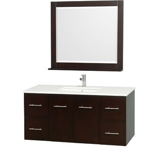 Centra 48 inch  Single Espresso Bathroom Vanity Set with Mirror