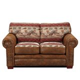 Escobar Microfiber 67 Round Arm Loveseat by Millwood Pines