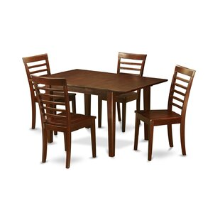 Lorelai 5 Piece Solid Wood Dining Set Alcott Hill