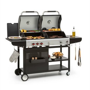 44cm 3 Burner Portable Propane Barbecue Grill By Klarstein