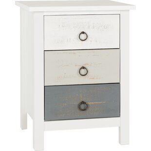 Ducharme 3 Drawer Bedside Table By Beachcrest Home