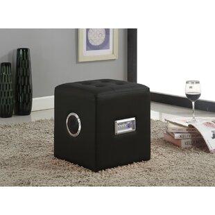 Gagliardi Tufted Cube Ottoman by Ebern Designs