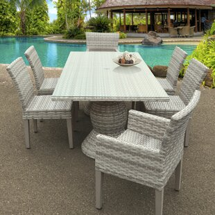 Rosecliff Heights Ansonia 7 Piece Outdoor Dining Set