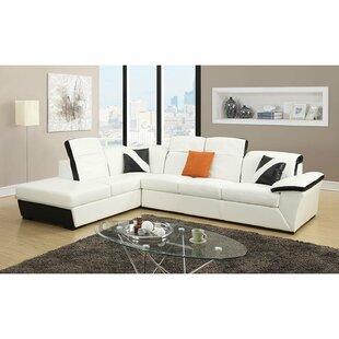 Keyana Left Hand Facing Sofa Sectional by Orren Ellis