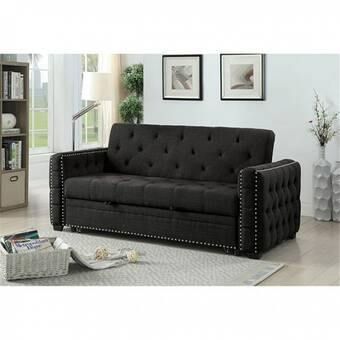 Latitude Run Byata Twin Or Smaller 26 5 Tufted Back Futon Chair Wayfair