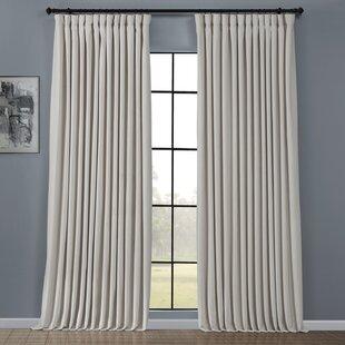 Light Grey Velvet Curtains Wayfair