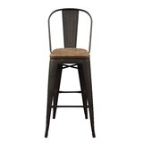 Boltongate Solid Wood 27.95'' Bar Stool (Set of 2) by Williston Forge