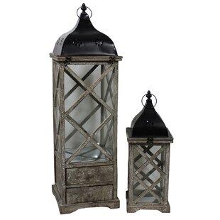 ESSENTIAL DÉCOR & BEYOND, INC 2-Piece Bailey Lantern Set