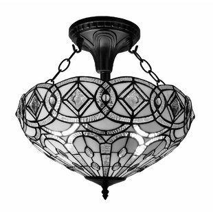 Tiffany 2-Light Semi Flush..