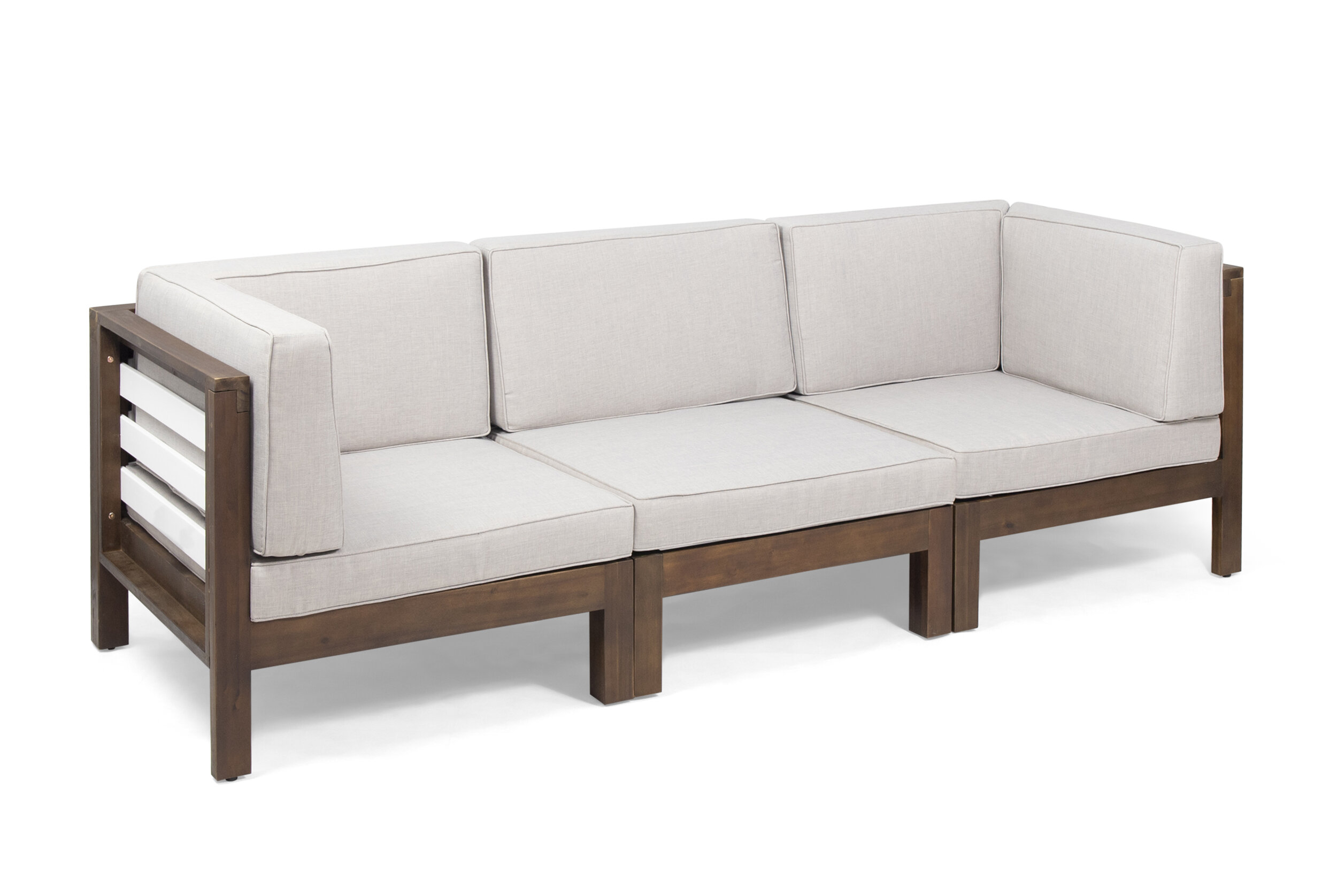 Parnell Outdoor Modular Patio Sofa with Cushions