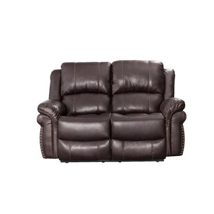 Monteith Leather Reclining Loveseat by Wi..
