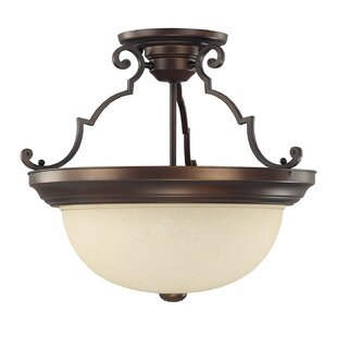 Wellington 3-Light Semi Flush Mount by Charlton Home