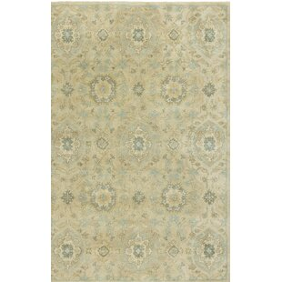 Allensville Cornflower Hand-Tufted Ivory Area Rug by Charlton Home
