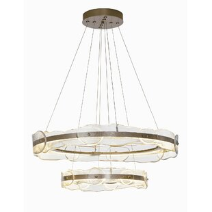 Brayden Studio Portola Tiered LED Drum Pendant