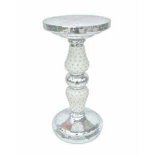 Vicki Mirror Pedestal End Table by House of Hampton