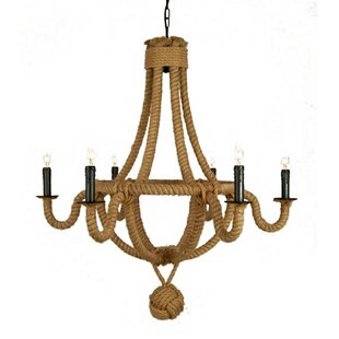 David Rope 6-Light Shaded Chandelier by Breakwater Bay
