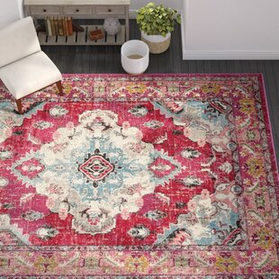 Tibbetts Pink Area Rug by Mistana