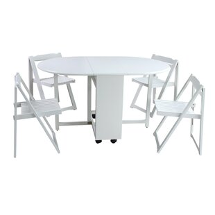 Mohler 5 Piece Solid Wood Dining Set