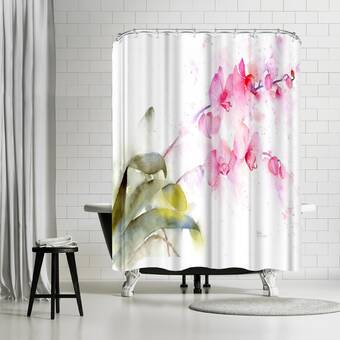 East Urban Home Rachel Mcnaughton Bees And Lavender Single Shower Curtain Wayfair