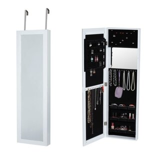 Famis Corp Over the Door Jewelry Armoire with Mirror