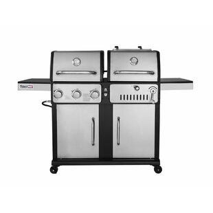 Durable 3 Burner Propane Gas and Charcoal Grill