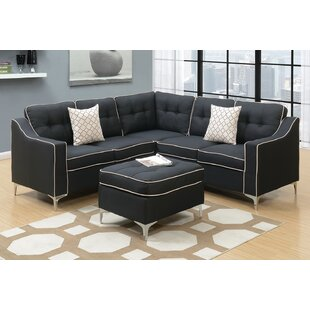 Mercer41 Izzie Sectional with Ottoman