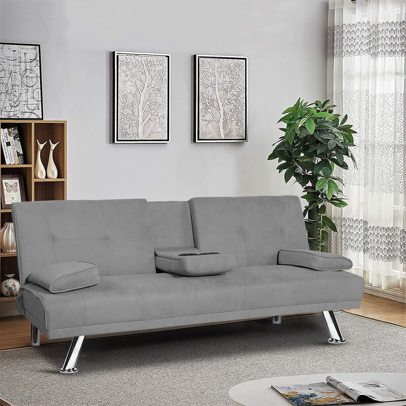 Ebern Designs Alburquerque Twin Or Smaller 66 2 Tufted Back Convertible Sofa Wayfair