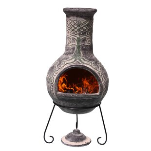 Derwyn Clay Wood Burning Chiminea Image
