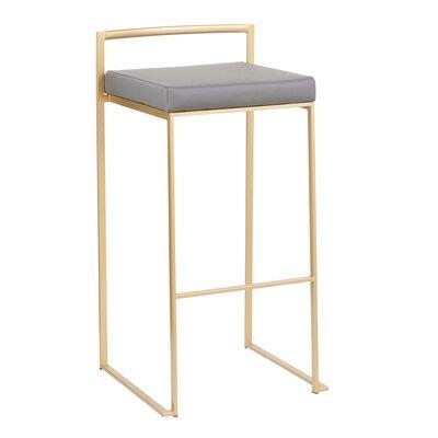 Strange Wade Logan Gary Bar Counter Stool Color Gold Seat Height Bar Pdpeps Interior Chair Design Pdpepsorg