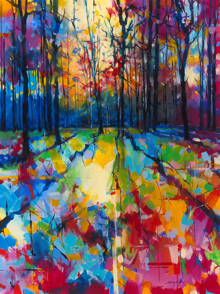east urban home mile end woods acrylic painting print reviews