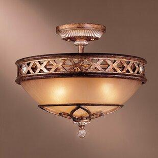 Astoria Grand Mcmillian 3-Light Bowl Shade Semi Flush Mount