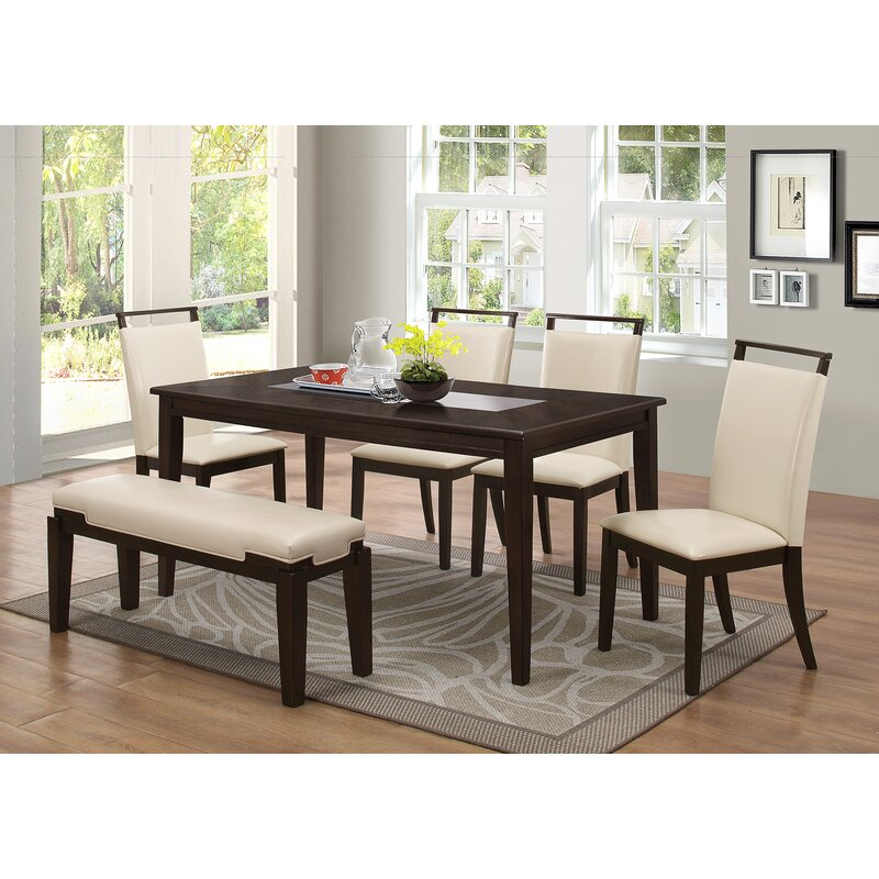 Latitude Run Depew 6 Piece Dining Set Reviews Wayfair