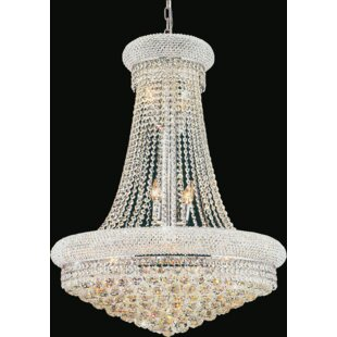 Compare prices Andres 17-Light Crystal Chandelier By Rosdorf Park