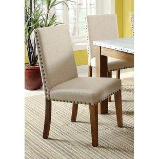 Boulton Upholstered Side Chair in Beige Set of 2