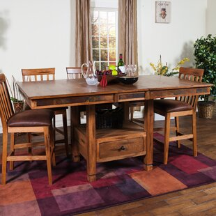 Fresno Solid Wood Dining Table Loon Peak