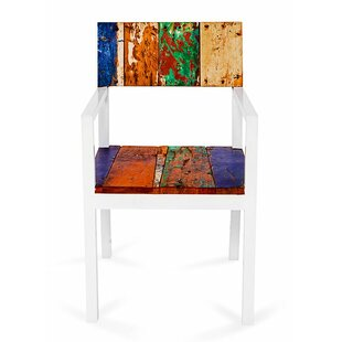 EcoChic Lifestyles Neptune Reclaimed Solid Wood Dining Chair