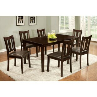 Morin Transitional 8 Piece Solid Wood Dining Set