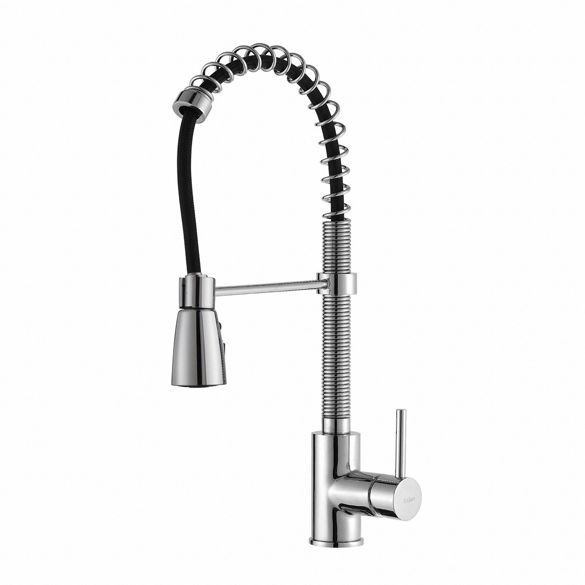 Kraus Pull Down Single Handle Kitchen Faucet & Reviews | Wayfair