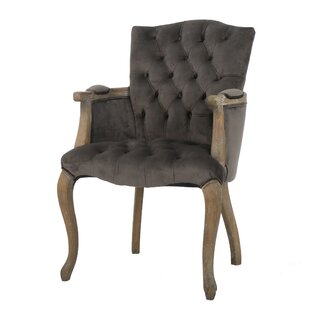 Willa Arlo Interiors Barletta Velvet Arm Dining Chair