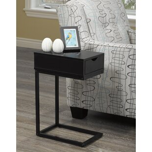 Best Garett End Table with Storage Drawer by Ebern Designs