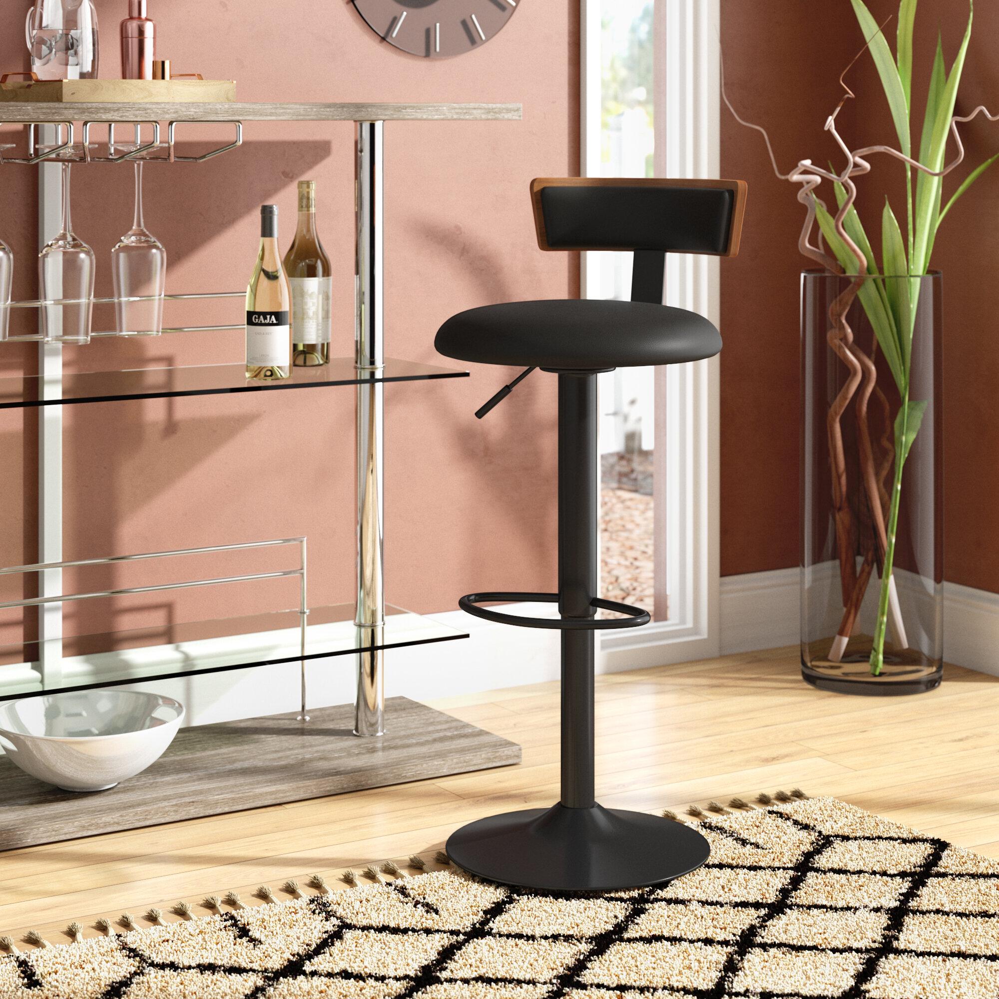 Fantastic Tyner Adjustable Height Swivel Bar Stool Creativecarmelina Interior Chair Design Creativecarmelinacom