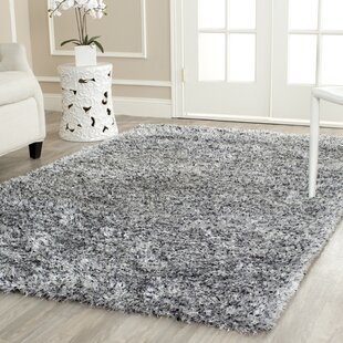 Kenneth Hand-Tufted Gray/Black Area Rug by Wade Logan