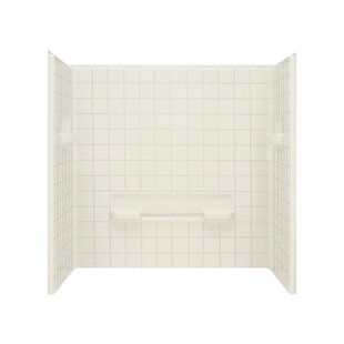 Read Reviews Advantage 59 x 60 x 35 Three Panel Shower Wall with Age-in Place Breakers By Sterling by Kohler