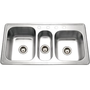 Premiere Gourmet Topmount Triple Bowl Kitchen Sink